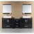 "Design Element Washington 96"" Double Sink Vanity Set with (2) Wall Mirrors in Espresso, 88"" W x 22"" D x 31"" H"