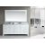 "Design Element London 78"" Double Sink Vanity Set with Wall Mirror in White and White Carrera Marble Countertop, 78"" W x 22"" D x 36"" H"