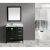 "Espresso 36"" White Carrera Top Vanity Set w/ Wall Mirror"