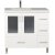 "Design Element Westfield 36"" Single Sink Vanity in White with White Quartz Countertop, 36"" W x 22"" D x 35"" H"