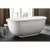 "EAGO 6 Feet Acrylic Whirlpool Bathtub with Fixtures in White, 70-7/8"" W x 37-3/8"" D x 27-1/2"" H"