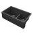 "Empire Industries Titan 33"" Granite Composite Farmhouse Double Bowl Kitchen Sink in Black, 33-1/2"" W x 19-1/4"" D x 10"" H"