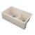 "Empire Industries Titan 33"" Granite Composite Farmhouse Double Bowl Kitchen Sink in Tan, 33-1/2"" W x 19-1/4"" D x 10"" H"