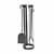"Enclume Premium Collection Indoor/Outdoor Round Tool Set in Hammered Steel, 7-1/2"" Diameter W x 7-1/2""D x 27-1/2""H"