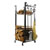 """Enclume Premium Collection Sling Fireplace Log Rack With Bar and Tools in Hammered Steel, 14""""W x 16""""D x 34""""H"""