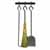 Enclume Premium Collection Fireplace Tools Set for Sling Log Rack with Bar Hammered Steel, 12-1/4''W x 2-1/4''D x 3-3/4''H
