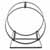Enclume Hearth Collection Indoor/Outdoor Hoop Log Rack with Handle in Hammered Steel, 19-1/2''W x 10''D x 22-3/4''H