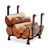 """Enclume Premium Collection Indoor/Outdoor Hearth Fireplace Log Rack in Hammered Steel, 17-1/2""""W x 13""""D x 19""""H"""