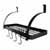 Enclume Rack It Up, Import Collection Solid Frame Bookshelf Wall Rack with 8 Hooks in Bordeaux, 24''W x 9-1/4''D x 12-1/4''H
