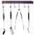Enclume Rack It Up, Import Collection Easy Mount Wall Rack Utensil Bar with 6 Hooks in Bordeaux