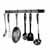 Enclume Premium Collection Easy Mount Wall Rack with 6 Hooks in Hammered Steel