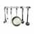 Enclume Premium Collection Easy Mount Wall Rack with 6 Hooks in Stainless Steel
