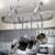 Ceiling Mounted Three Foot Oval Pot Rack PR16B