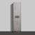 "16"" W Cement Gray Linen Side Cabinet"