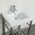 """24"""" W Stainless Steel / White Vanity Illustration View 3"""