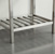 """24"""" W Stainless Steel / White Vanity Illustration View 4"""