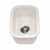 Houzer Platus Series Fireclay Undermount Rectangular Bar Sink, Biscuit Finish, 12-1/4''W x 18-1/8''D x 6-5/16''H