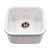 Houzer Platus Series Fireclay Undermount Square Bar Sink, White Finish, 18-7/8''W x 18-7/8''D x 7''H