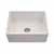 Houzer Platus Series Fireclay Apron Front or Undermount Single Bowl Kitchen Sink, Biscuit Finish, 26''W x 20''D x 9-1/4''H