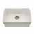 Houzer Platus Series Fireclay Undermount Single Bowl Sink, Biscuit Finish, 23-7/16''W x 16-1/8''D x 7-1/4''H