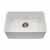 Houzer Platus Series Fireclay Undermount Single Bowl Sink, White Finish, 23-7/16''W x 16-1/8''D x 7-1/4''H