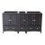 """Fresca Oxford 60"""" Espresso Traditional Double Sink Vanity Base Cabinets, 59-1/4"""" W x 20"""" D x 34"""" H"""