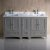 "60"" Gray Double Sink Vanity Cabinets w/ Top & Sinks"
