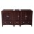 "Fresca Oxford 60"" Mahogany Traditional Double Sink Vanity Base Cabinets, 59-1/4"" W x 20"" D x 34"" H"