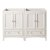 """Fresca Oxford 48"""" Antique White Traditional Double Sink Vanity Base Cabinets, 47-1/4"""" W x 20"""" D x 34"""" H"""