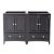 """Fresca Oxford 48"""" Espresso Traditional Double Sink Vanity Base Cabinets, 47-1/4"""" W x 20"""" D x 34"""" H"""
