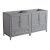 "60"" Gray Double Sink Vanity Cabinets"