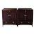 "Fresca Oxford 59"" Mahogany Traditional Double Sink Vanity Base Cabinets, 59"" W x 20"" D x 34"" H"