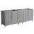 "83""-84"" Gray Double Sink Vanity Cabinets"