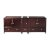 """Fresca Oxford 83"""" Mahogany Traditional Double Sink Vanity Base Cabinets, 82-3/4"""" W x 20"""" D x 34"""" H"""