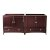 "Fresca Oxford 71"" Mahogany Traditional Double Sink Vanity Base Cabinets, 70-3/4"" W x 20"" D x 34"" H"