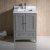 """24"""" Gray Vanity Cabinet w/ Top & Sinks"""