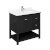 """36"""" Black Vanity w/ Top & Sink Product Angle View"""