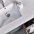 "36"" Gray Vanity w/ Top & Sink Sink Close Up"