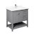 """36"""" Gray Vanity w/ Top & Sink Product Angle View"""
