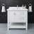 """36"""" White Vanity w/ Top & Sink Front View"""
