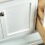 """36"""" White Vanity w/ Top & Sink Door View"""