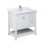"""36"""" White Vanity w/ Top & Sink Product Angle View"""