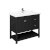 """42"""" Black Vanity w/ Top & Sink Product Angle View"""