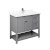 """42"""" Gray Vanity w/ Top & Sink Product Angle View"""