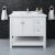 """42"""" White Vanity w/ Top & Sink Front View"""