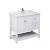 """42"""" White Vanity w/ Top & Sink Product Angle View"""