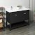 "Fresca Manchester 48"" Black Traditional Double Sink Bathroom Vanity Base Cabinet w/ Top & Sinks, Vanity: 48"" W x 20-2/5"" D x 34-4/5"" H"