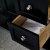 """48"""" Black Vanity w/ Top & Sinks Drawer Close Up"""
