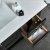 """48"""" Black Vanity w/ Top & Sinks Drawer Overhead View"""