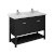 "48"" Black Vanity w/ Top & Sinks Product Angle View"